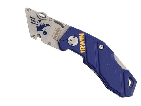 Irwin Folding Trimming Knife Handle Utility Work Belt Grip Clip Wire No Blades